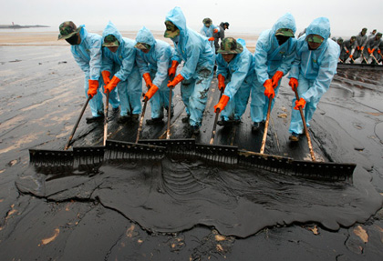 Oil spill recovery essay